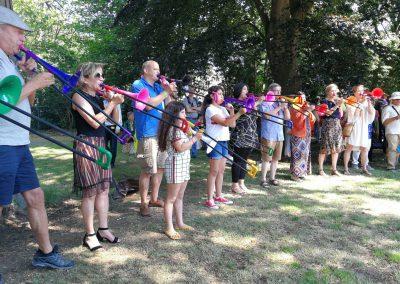 Publiek speelt Trombone - door Audry IMG_20190623_121841